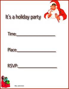 Free Printable Christmas Party Invitations Card