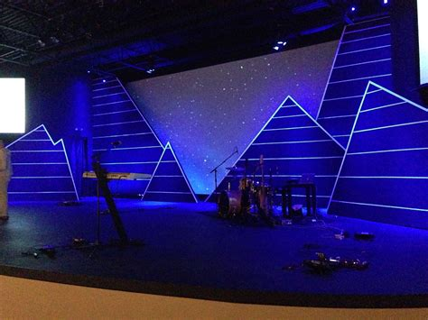 mountains  valleys church stage design ideas