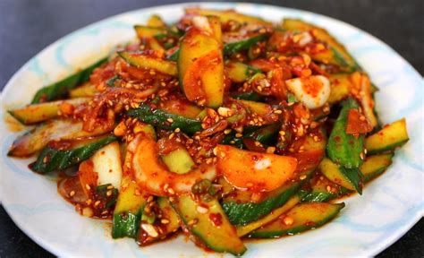 side dished spicy cucumber side dish recipe maangchi com