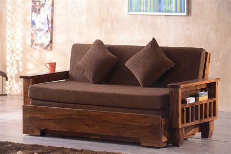 buy solid wood jodhpur sofa cum bed   india