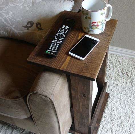 sofa chair arm rest table stand ii with storage pocket for
