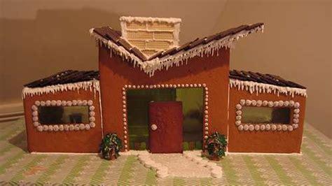 architectually correct baking mid century modern gingerbread house