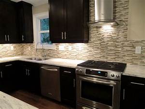 attractive subway backsplash tile and high end black With best brand of paint for kitchen cabinets with high end wall art