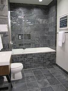 40 gray bathroom wall tile ideas and pictures for Bathroom grey tile