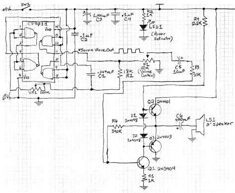 Oscillator Square Wave Output Fed Transistor