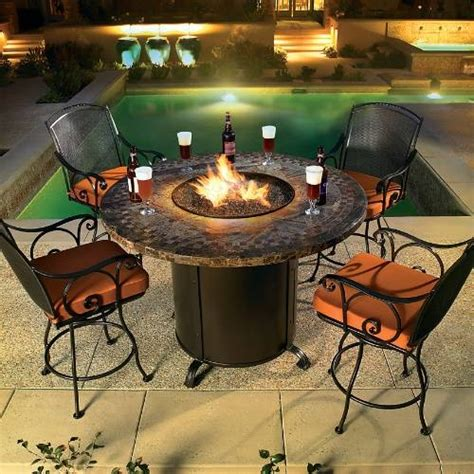 bar height patio table with pit 1000 ideas about patio set up on patio sets
