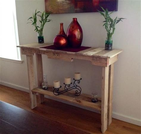 recycled wood pallet tables plans ideas  pallets