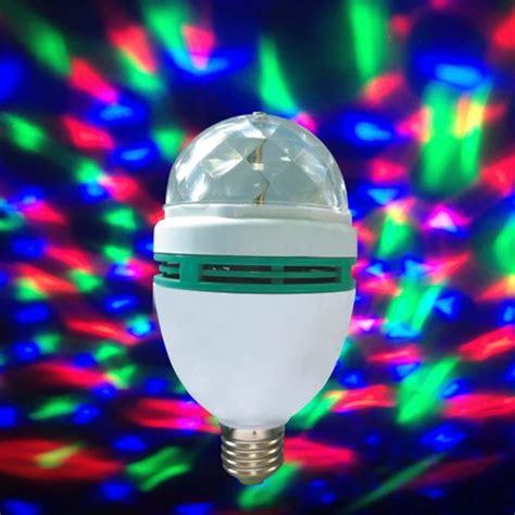 disco light bulb b22 3w rgb led stage rotate color light bulb