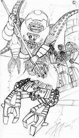 Ork Waaagh Kult Nobz Mek Grots Sideburns sketch template