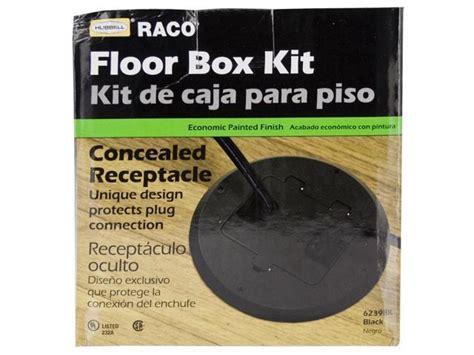 Hubbell Floor Box Kit by Hubbell Raco 6239bk Black Concealed Receptacle Floor Box