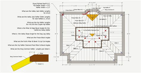Hip And Valley Roof Construction by Roof Framing Geometry Hip Valley Roof Framing Exle 1