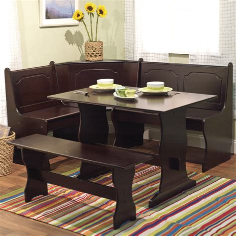 space saving corner breakfast nook furniture sets booths
