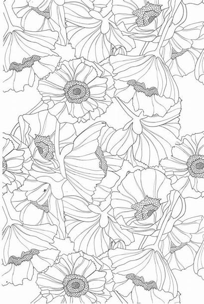 Coloring Pages Teens Flowers Printable Sheets Flower