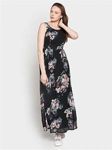 Code by Lifestyle Women Black Printed Maxi Dress|Best ...