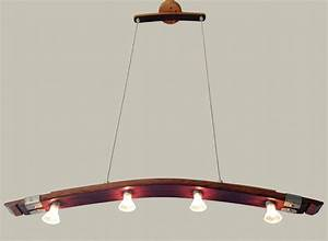 Saba recycled wine barrel stave pendant light kitchen