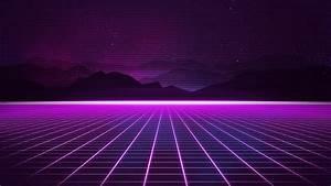 Wallpaper, Retrowave, Purple, Lines, 4k, Art, 18921