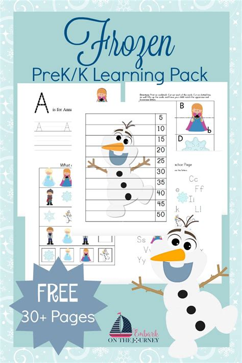 free learning free frozen learning pack