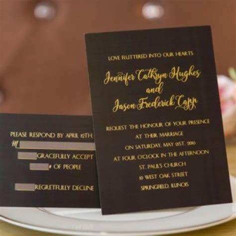 invitaciones en negro  dorado foil stamped black gold