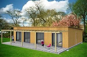 Maison Bois Contemporaine : maison plain pied en bois ~ Preciouscoupons.com Idées de Décoration