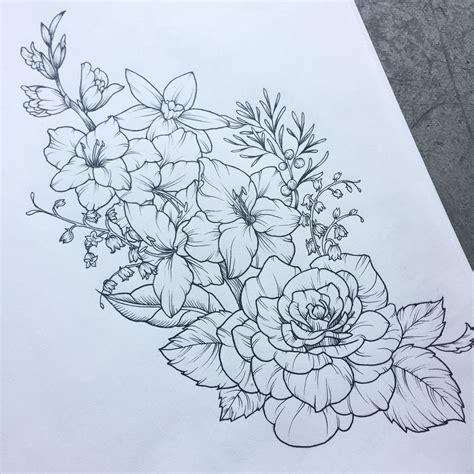 thigh tattoo wildflowers grow  perserverance unique tat ideas tattoos tattoo