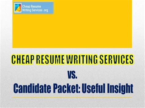 cheap resume writing services vs candidate packet useful