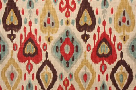 drapery material richloom platinum collection django printed linen blend