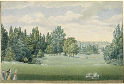 malmaison vue du parc prise du chateau par garneray