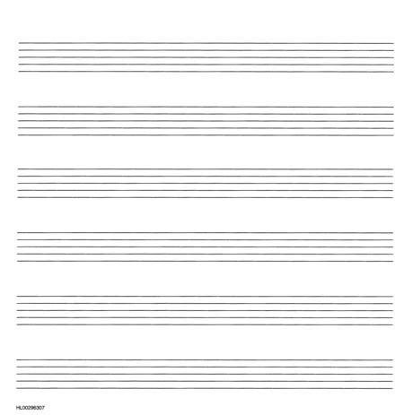 Blank Piano Staff Paper