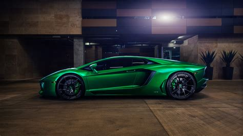 wallpaper lamborghini aventador green  automotive