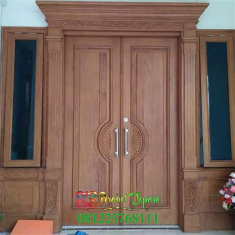 harga pintu utama kayu jati jepara pintu kupu tarung