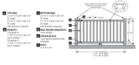 Porch Railing Dimensions by Bufftech Kingston Vinyl Railing Discount Fence Supply