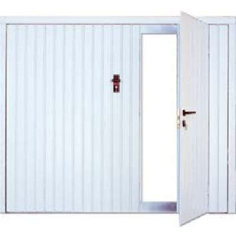 porte de garage basculante d 233 bordante avec rails panneau acier 224 rainures verticales avec