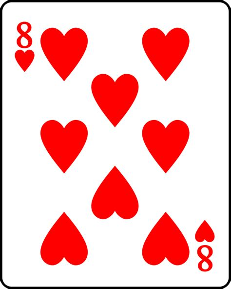 Image result for 8 of Hearts Card