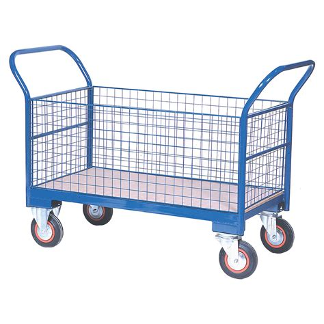 Warehouse Trolley Twin-Handled With Wire Ends & Sides ...