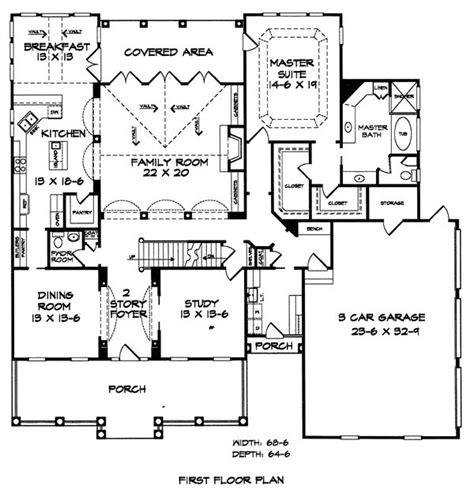 floor plans com floor plan of southern house plan 58030 house