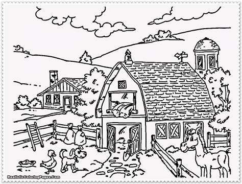 farm coloring pages    print