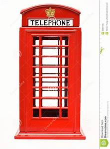 Red phone booth clipart
