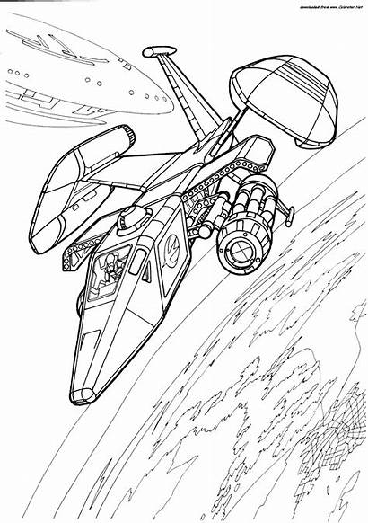 Future Coloring Pages Spacecraft Transport Vehicles Colorator