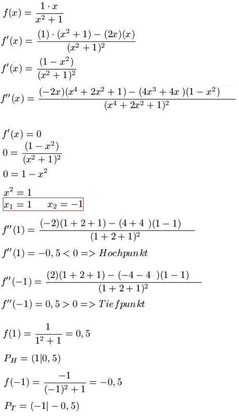 kurvenschar berechnen kurvendiskussion