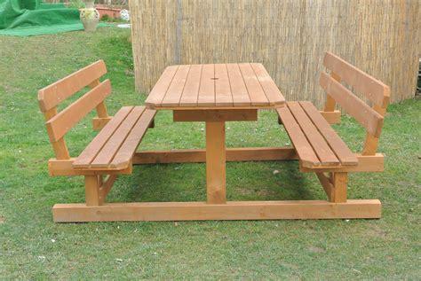 panchine esterno tavoli per l esterno in legno tavolo in legno con
