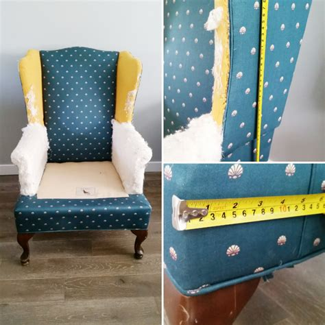 How To Reupholster A Chair by How To Reupholster A Wing Back Chair By Confessions Of A