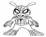 Coloring Pages Ham Spider Spiderman Printable sketch template