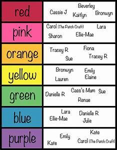 Threads n' Mess: Rainbow Charm List