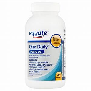2 Pack  Equate One Daily Men U0026 39 S 50  Multivitamin  65 Ct