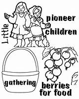 Pioneer Children Clipart Coloring Csb Template Happy Clipground Visit sketch template