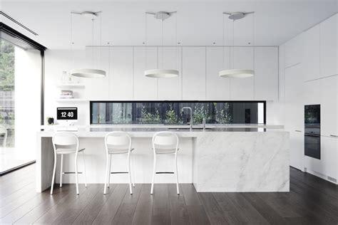 white marble kitchen island 30 modern white kitchens that exemplify refinement