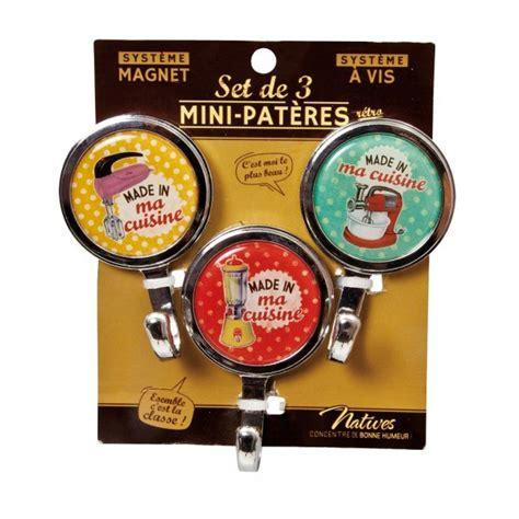 magnet cuisine 3 mini patères magnet ou vis quot made in ma cuisine