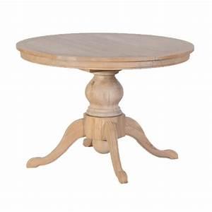 Table Ronde En Chene : table ronde extensible en ch ne massif aspect lav ~ Teatrodelosmanantiales.com Idées de Décoration