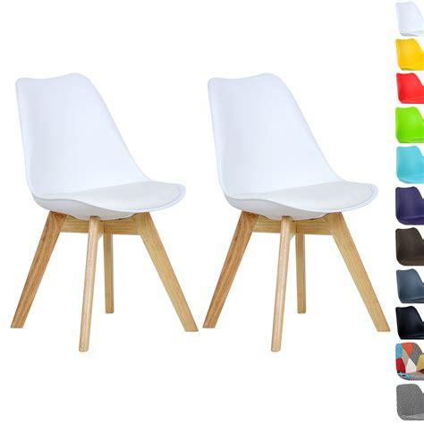 lot de chaise a vendre lot de 2 chaise de salle à manger en bois en tissu