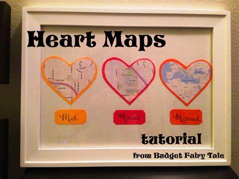 anniversary gift map hearts display tutorial